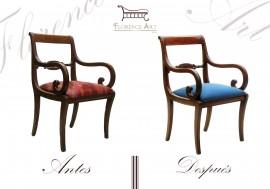 Restauración integral de silla.