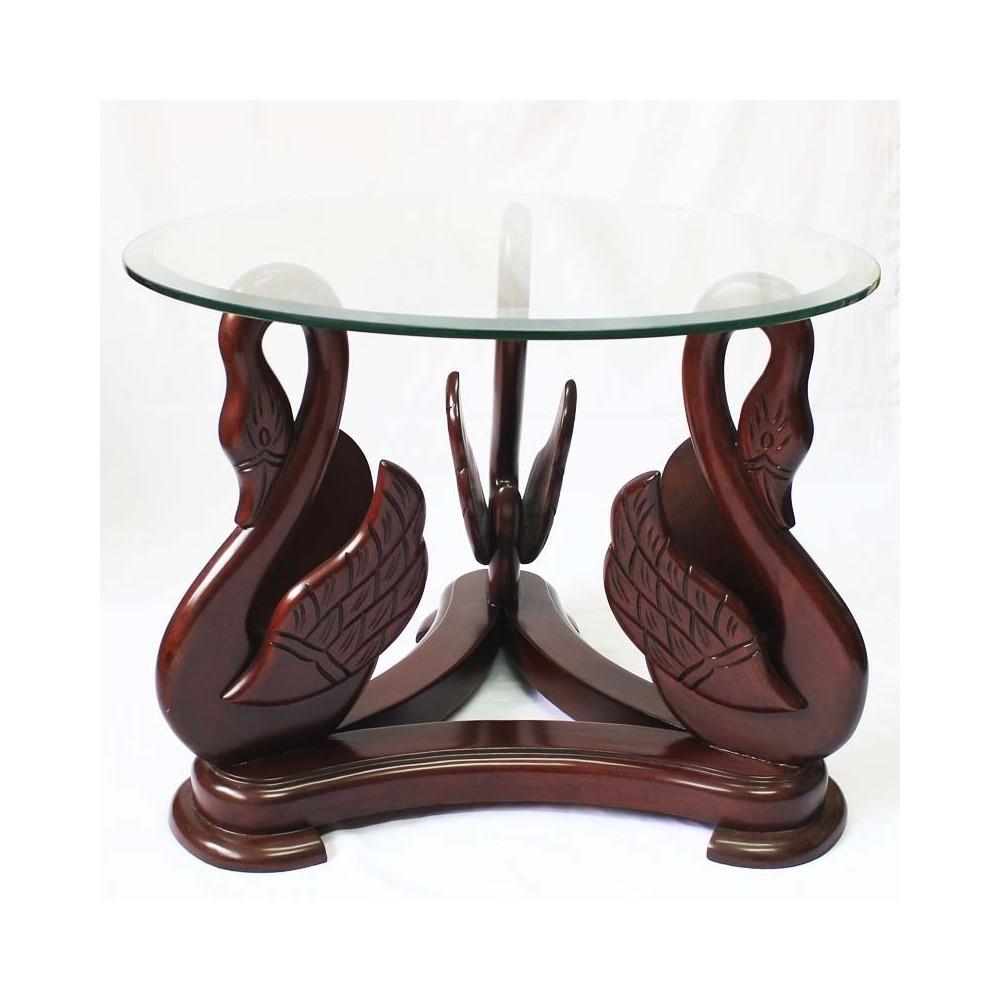 Mesa Lateral modelo Cisnes - Florence Art. Muebles finos en México