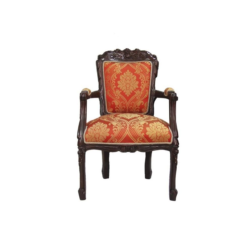 Sill n modelo rosas estilo luis xv florence art muebles - Telas para tapizar un sillon ...