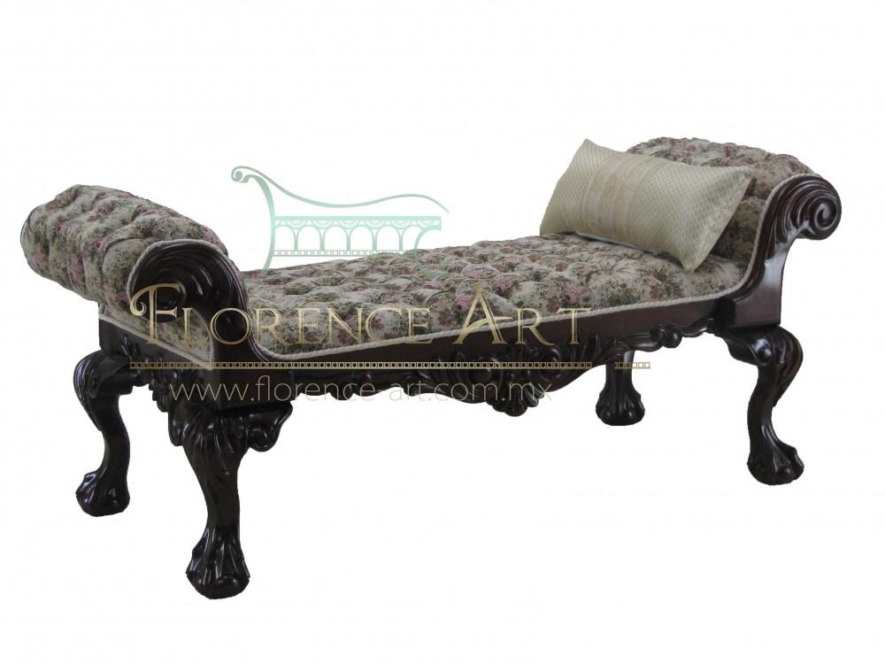 Pie de cama modelo luis xv florence art muebles finos for Cama luis xv